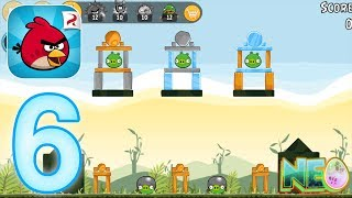Angry Birds: Gameplay Walkthrough Part 6 - Poached Eggs 2. 16-20 (iOS, Android)