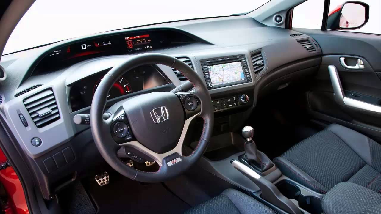 car interior honda civic si coupe 2014 youtube. Black Bedroom Furniture Sets. Home Design Ideas