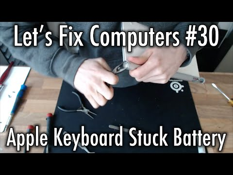 Let's Fix Computers Ep.30 - Apple Keyboard Stuck Battery