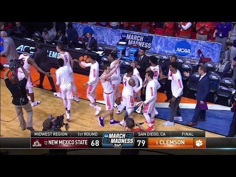 Clemson rolls past New Mexico State in the NCAA Tournament first round