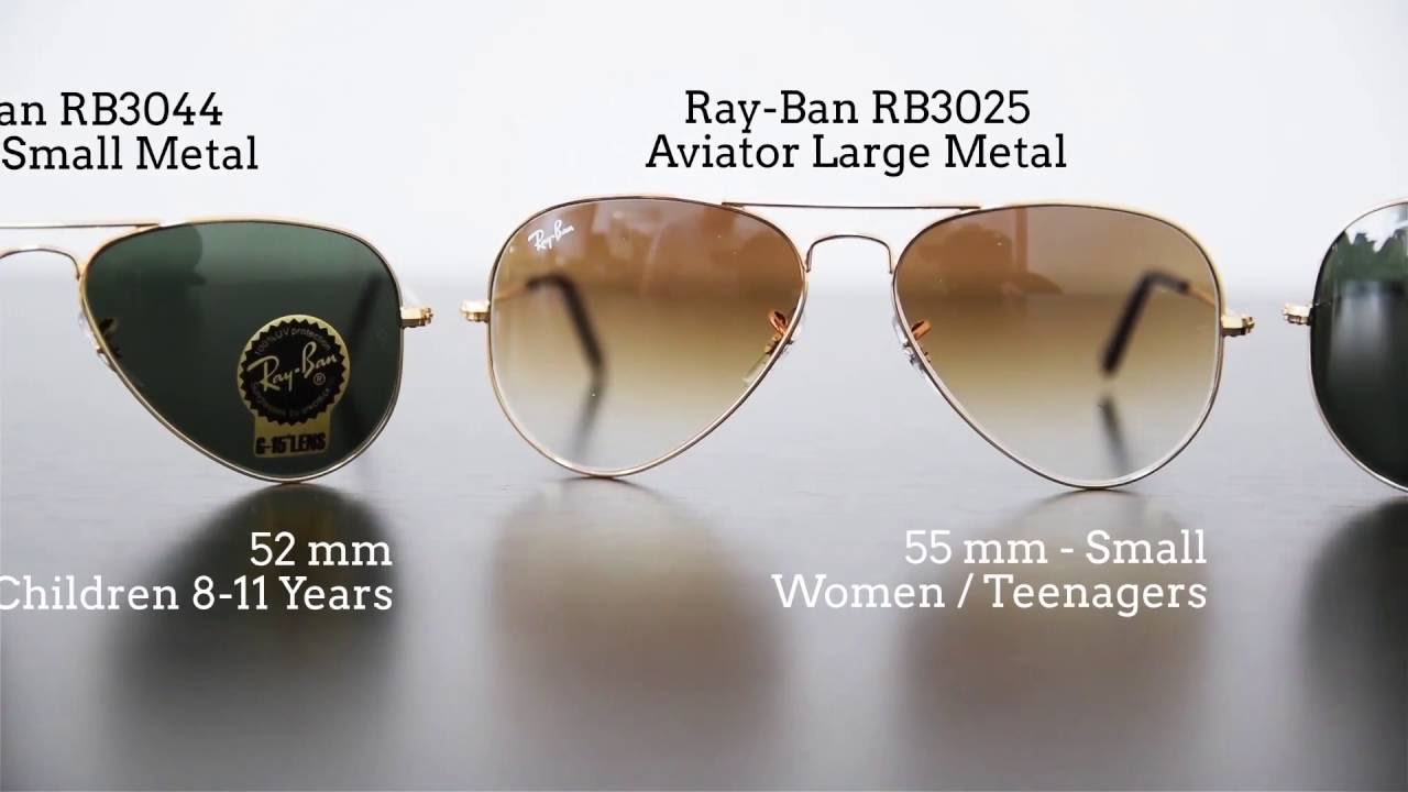 2966d19b641 Ray-Ban Aviator Size Comparison - www.Lensa.ro - YouTube