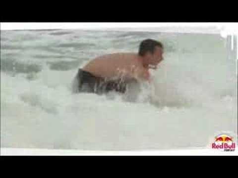 Robbie Maddison surfing the Copacabana