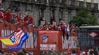 Celebración del Atlético de Madrid, en directo