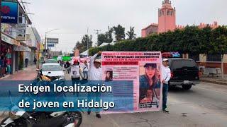Marchan por desaparición de Sandra en Hidalgo; familiares culpan a su novio