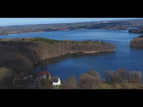 4K HD Beautiful clouds - Flight over the lakes Nature and the beauty of Germany - Documentary video