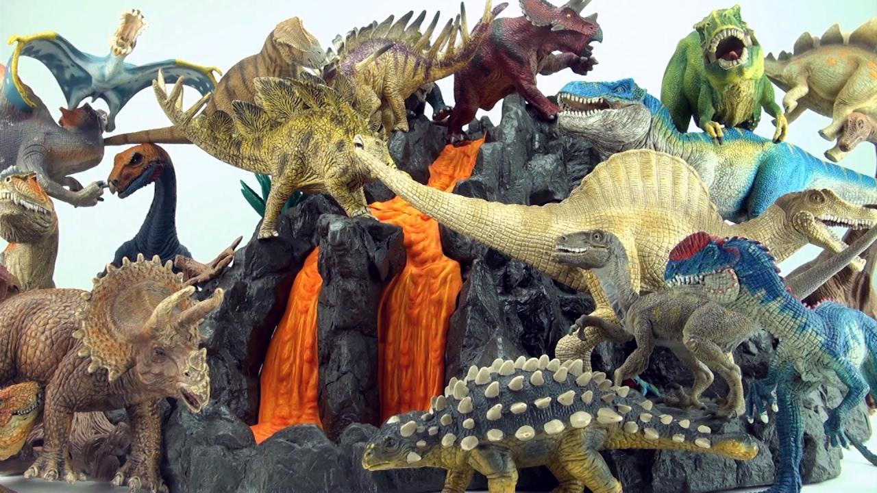 Dinosaur Volcano Playsets