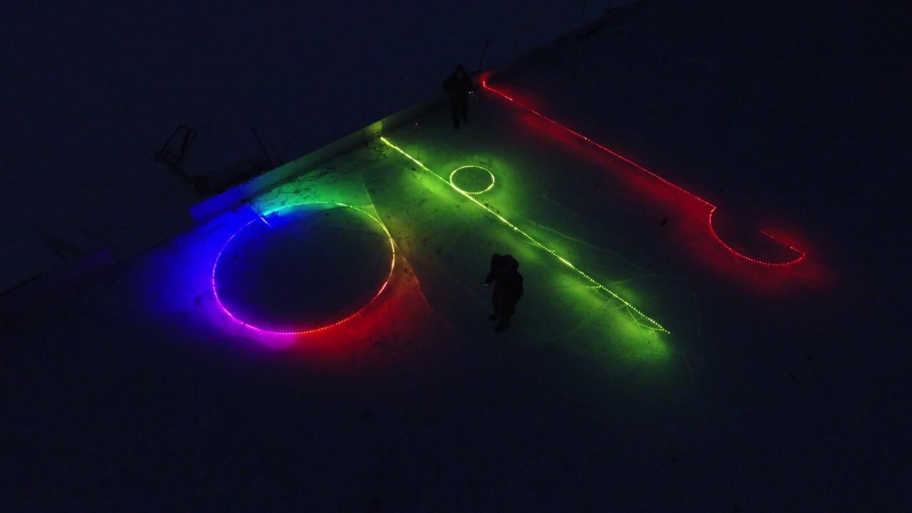 led lights frozen in backyard ice rink 2 youtube