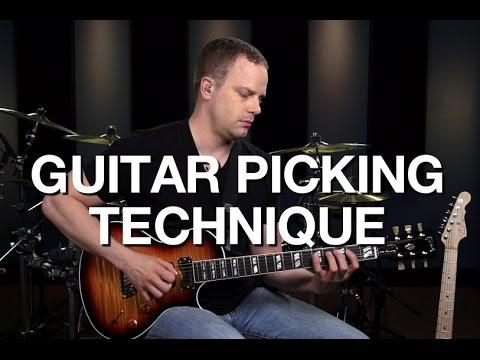 Basic Guitar Picking Technique - Lead Guitar Lesson #2