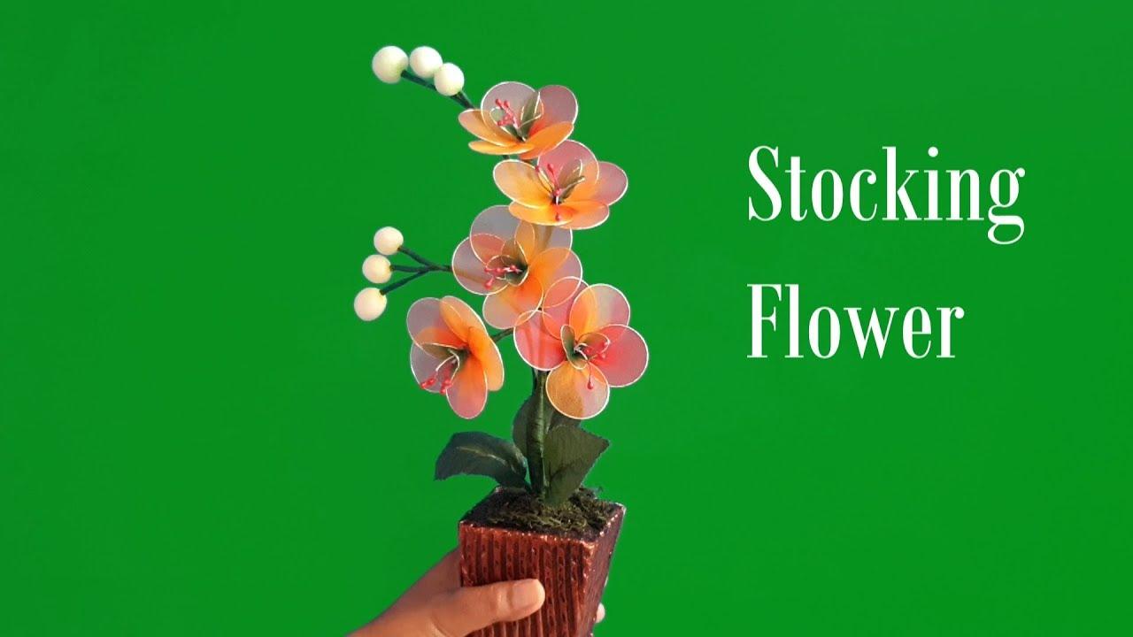 Cara Membuat Bunga Stoking Stocking Flower Youtube