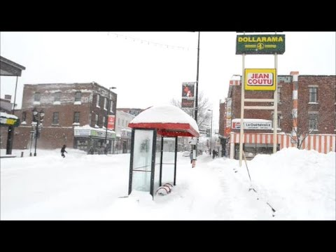 WALKING ONTARIO STREET AFTER MONTREAL SNOWSTORM   03 15 17
