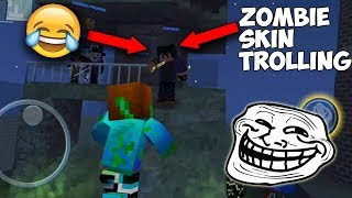 Block City Wars: Zombie Rush - Zombie Skin Trolling As A Human