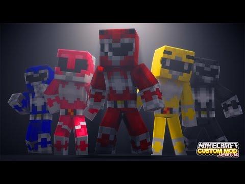 Minecraft - HOW TO BECOME A POWER RANGER - Custom Mod Adventure - Видео из Майнкрафт (Minecraft)