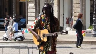 "Amazing Reggae Street Musician - ""SWEAT"" (A La La Long) - Acoustic Reggae"