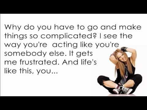 Avril Lavigne - Complicated [Lyrics/Letra]