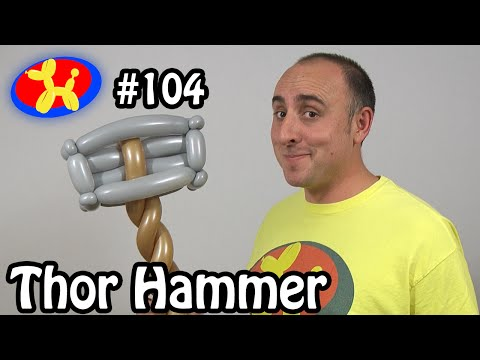 Thor's Hammer - Balloon Animal Lessons #104