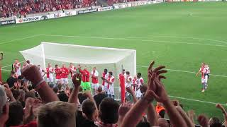 SK Slavia Praha – Girondins Bordeaux FC   1-0   20.09.2018  Děkovačka