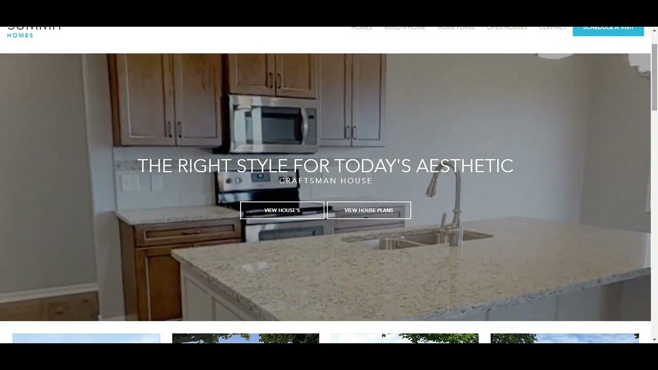 Summit Homes Web Design Concept | 10com Web Development
