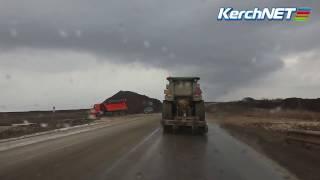 Керчь: автоподходы к мосту строят непрерывно