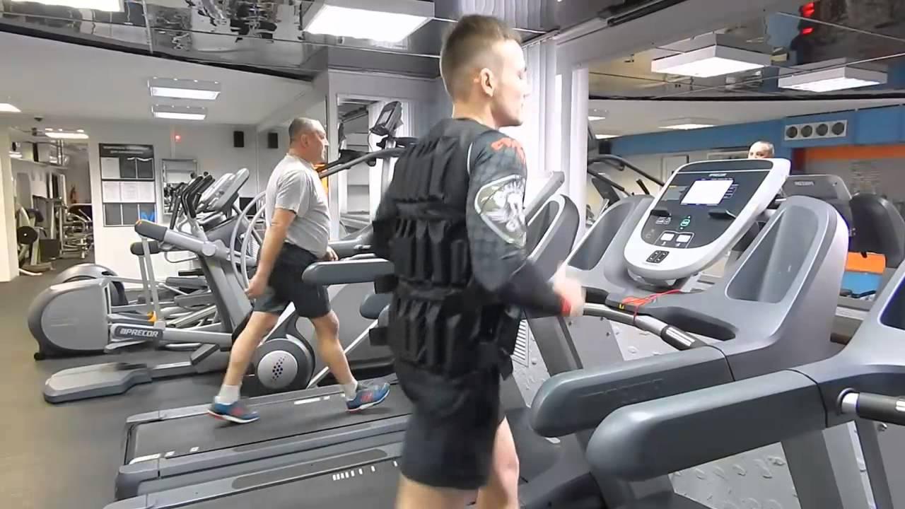 Бег для похудения с жилетом утяжелителем 20 кг - YouTube