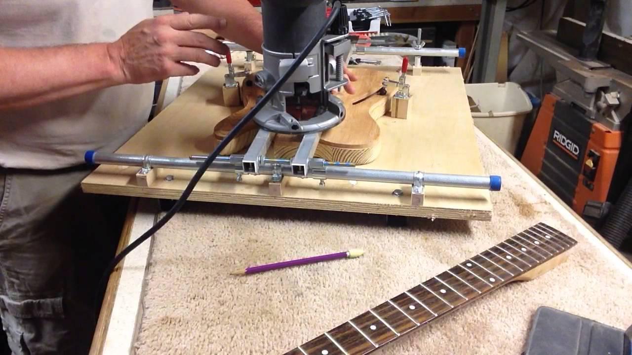 boudreau guitars my neck pocket routing jig doovi. Black Bedroom Furniture Sets. Home Design Ideas