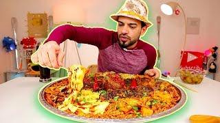 تحدي الباستا او المعكرونة المكسيكية باللحم والصلصة الحارة والبقوليات والجبن والفلفل Pasta Challenge