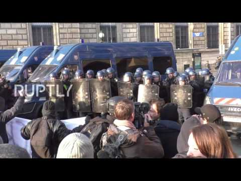 France: Tear gas and clashes take Paris as anti-police brutality demos continue