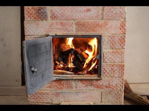 Небольшая дачная двухколпаковая печь / Small 2-dome stove for summer house