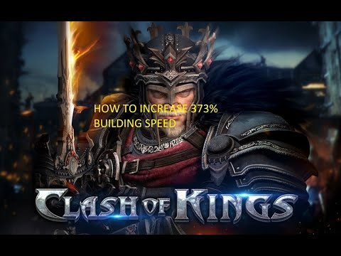 Clash Of Kings : How To Increase Building Speed (373%)    #cok  #connectingkings