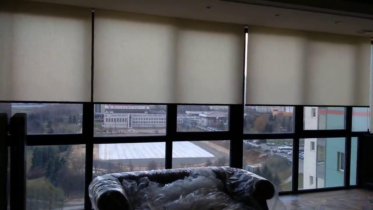 Рулонные шторы - День - Ночь, черные - YouTube