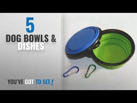 top-10-dog-bowls-&-dishes-[2018-best-sellers]:-comsun-2-pack-collapsible-dog-bowl,-food-grade