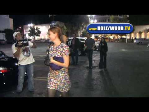 Sara Paxton And Friends Leave Hollywood Night Club.