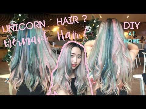 DIY How to: Unicorn or Mermaid Hair coloring at Home Tutorial (Bahasa Indonesia)