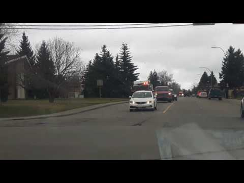 Calgary Engine 46 & Rescue 12 responding