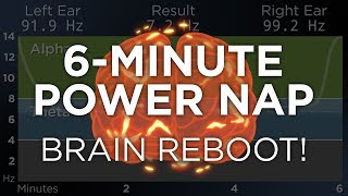 6 Minute POWER NAP for Energy and Focus The Best Binaural Beats