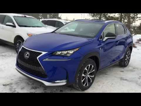 New Ultrasonic Blue 2015 Lexus NX 200t AWD F Sport Series 1 Review - Edmonton, Alberta