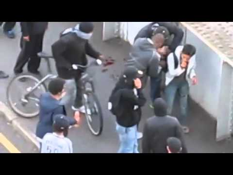 London - Riots Young boy gets robbed/mugged by gang of looters after getting knocked out