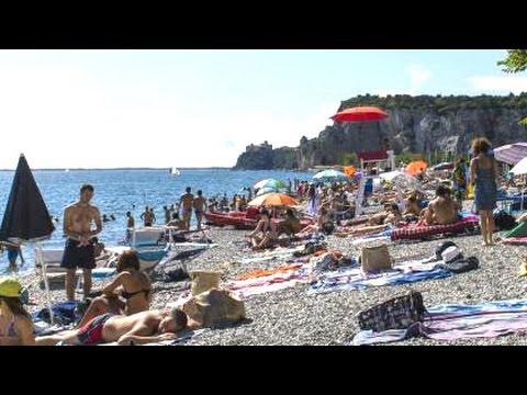 Sistiana Beach - Trieste Italy, Adriatic sea