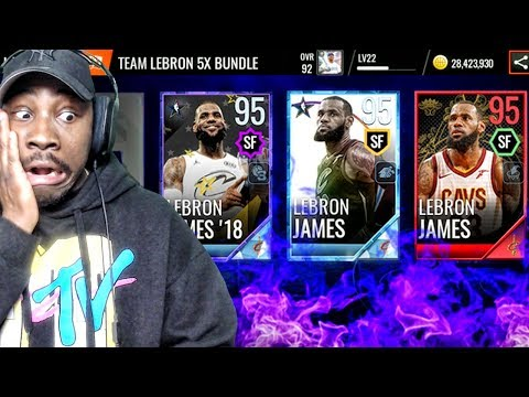WHICH 95 OVR LEBRON JAMES SHOULD YOU GET!? NBA Live Mobile 18 Pack Opening Ep. 36