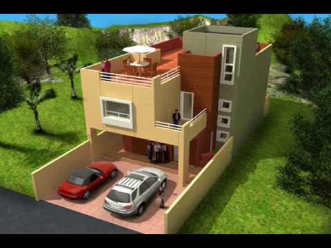 planos de casas 8×16 dos pisos
