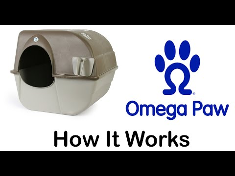 Omega Paw Roll'n Clean Self Cleaning Litterbox How it works