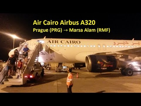 Air Cairo Airbus A320-214 (SU-BPV) | Prague (PRG) → Marsa Alam (RMF), 19./20.7.2017 *Full Flight*