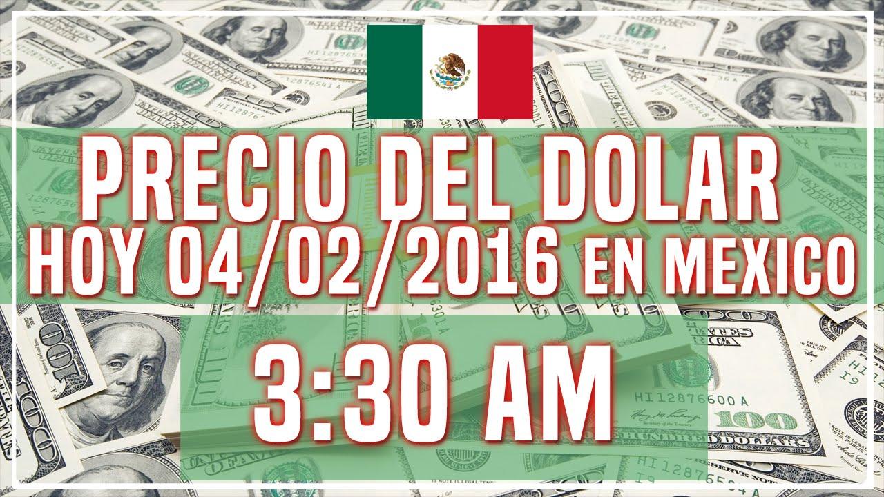Precio Del Dolar Hoy En Mexico 04 De Enero 2016