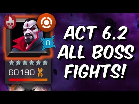 Act 6 Chapter 2 All Boss Fights - 6.2 Mister Sinister & More! - Marvel Contest of Champions
