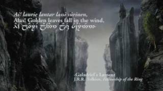 The Great River (Quenya lyrics in Tengwar) - Lord of the Rings: The Fellowship Of The Ring