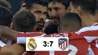 Реал Мадрид - Атлетико Мадрид 3-7 обзор матча