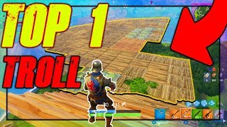 FAIRE UN TOP 1 DANS LE CIEL SUR FORTNITE !!! | TROLL BATTLE ROYALE
