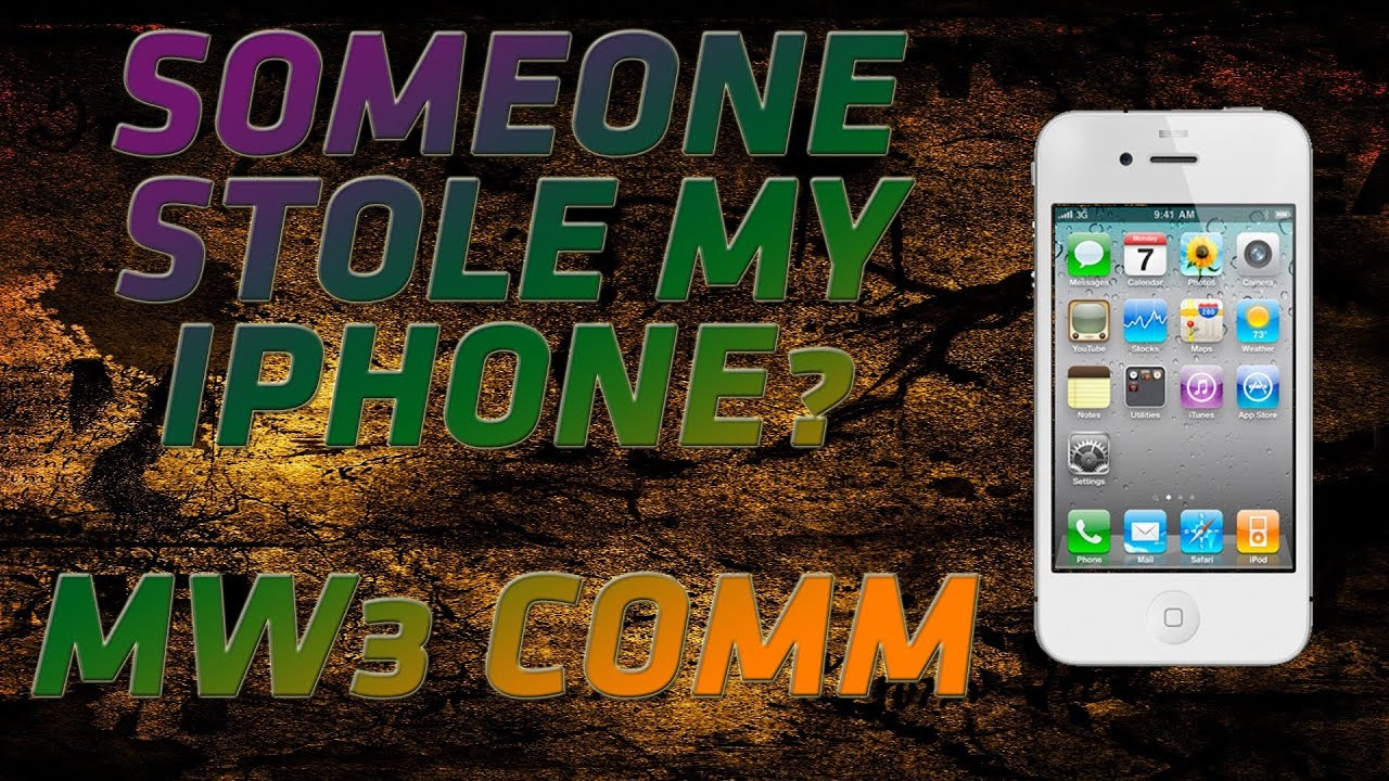 someone stole my iphone someone stole my iphone mw3 commentary 16159
