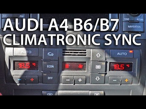 How to sync zones in Climatronic Audi A4 B6 / B7 (tips & tricks)