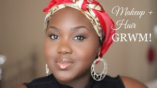 My EVERYDAY Makeup + Hair Routine GRWM and How to wrap a bob with Alyssum Hair Thumbnail