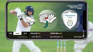 Yorkshire vs Hampshire